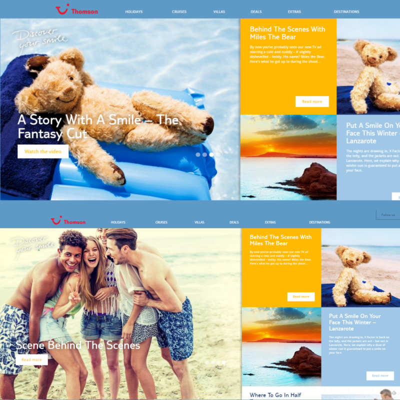 Holiday website